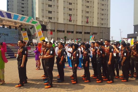 Волонтеры I Международных спортивных игр «Дети Азии» приступили к работе на XVIII Азиатских играх в Джакарте