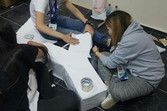 Волонтеры принявшие участие в I международных интеллектуальных играх возвращаются на Сахалин