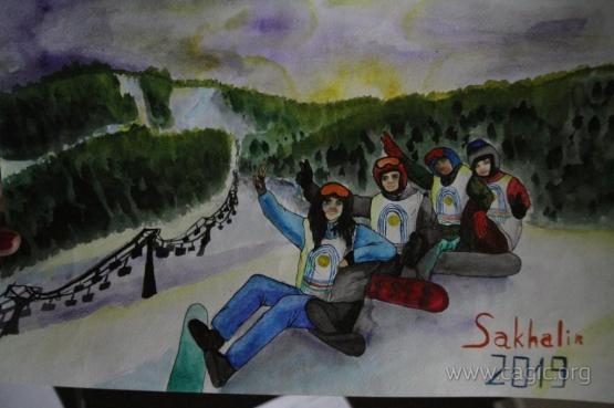 На информационном портале «Сахком» завершилось голосование конкурса рисунков «Сахалин – столица I зимних международных спортивных игр «Дети Азии».