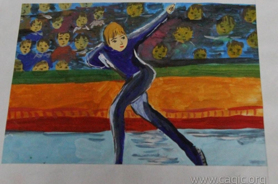 Начинается голосование за звание победителя в конкурсе рисунков «Сахалин – столица I зимних Международных спортивных игр «Дети Азии»