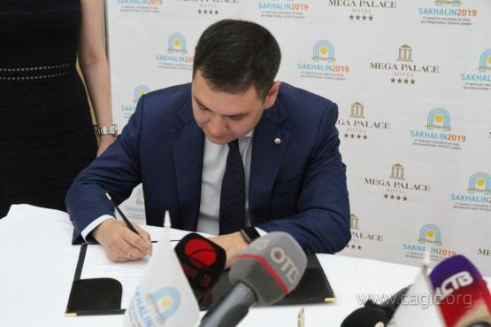 Дирекция I зимних Международных спортивных игр «Дети Азии» и «Мега Палас Отель» подписали соглашение о Партнерстве.